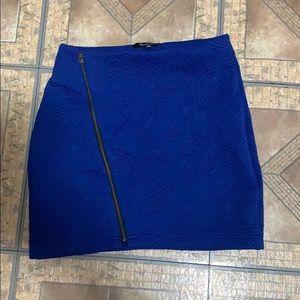 Indigo mini skirt